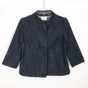 TALBOTS PETITES Dark Blue Denim/Jean Jacket/P